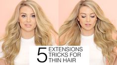 5 MUST KNOW hair extensions tricks for FINE and THIN hair | Milk + Blush