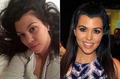 Koutney Kardashian: with and without make-up