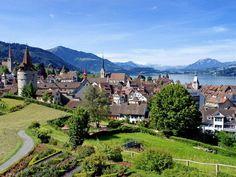 Zug Switzerland. The town where I work