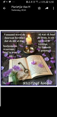 Evening Quotes, Goeie Nag, Good Night Quotes, Afrikaans, Fancy, Messages, Words, Diy, Decor