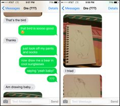 Bahaha horny guy tries to text girl..gets another guy at the end of the line LOL