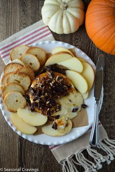 Baked Brie with Fig Jam - gooey, sweet and savory! Sign up for more quick, healthy recipe at http://eepurl.com/bgGhFT