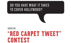 "Do You Have What It Takes to Be a Hollywood Twitter Correspondent? < Covering ""Campaign Hollywood,"" Vanity Fair's series leading up to the Oscars"