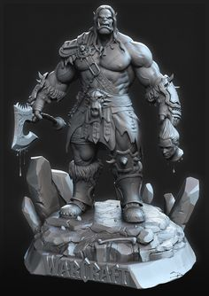 [image] Title: WarCraft Fan Art Name: AJOY PAUL Hi, Just wanted to share my work , inspired from WarCraft . I used Zbrush , maya and photoshop. Hope u guys like it… [image] [image] [image] Warcraft Art, World Of Warcraft, 2d Art, Art 3d, God Of War, Zbrush, Werewolf, Thor, Sculpting