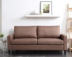 Pleasant Mibasics Blakely Track Arm Loveseat Brown In 2019 Products Spiritservingveterans Wood Chair Design Ideas Spiritservingveteransorg