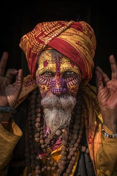 thestylishgypsy: Indian Sadhu (Holy Man)
