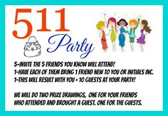 Host an Initials inc 511 Party. Just invite the 5 friends you can always count on. Have them bring 1 friend new to you and Initials inc. Prize drawing for friends who brought a guest and for the guests. You end up with You + 10 at your party! Kathy Bowen, Independent Creative Leader located in Maryland www.myinitials-inc.com/kathybowen pursepartybiz@gmail.com Call or Text 410.200.7704