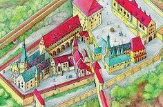 TÖRTÉNELMI KALEIDOSZKÓP...: A budai vár Mátyás király korában / Folytatáshoz k... Historical Pictures, Hungary, Knight, Castles, Painting, Diy, Chateaus, Bricolage, Painting Art