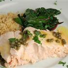 Pan-Poached Alaskan Salmon Piccata Recipe