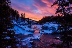 Winter morning at Elbow Falls, Kananaskis Country, Alberta, Canada [2880x1920] #nature and Science