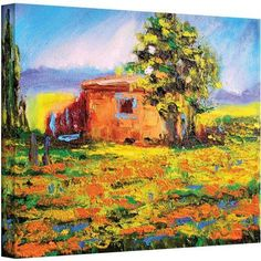 ArtWall Susi Franco Prairie Palace Gallery-wrapped Canvas, Size: 24 x 32, Green