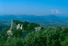 Le Château d'Allègre domine la Vallée de la Cèze et offre un large panorama sur les Cévennes et le Mont Bouquet. En juillet, une fête médiévale est organisée dans le château Le Gard, Pont Du Gard, Panorama, Beaux Villages, Saint, Places To Go, Things To Do, Bouquet, France