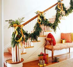 Decorating Ideas for your Christmas Stairs