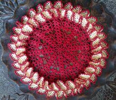 Crochet ruffle doily