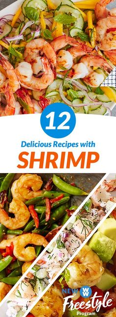 12 Delicious Shrimp Recipes | The all-new WW Freestyle program is here & shrimp is now 0 SmartPoints! Celebrate with one of these easy meals!