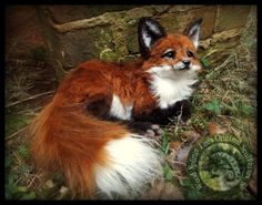 now im considering having a pink cherry blossom and red fox theme to my new SOLD- HAND MADE Poseable Baby Fox! by Wood-Splitter-Lee on DeviantArt Cute Fantasy Creatures, Cute Creatures, Magical Creatures, Felt Animals, Cute Baby Animals, Wood Splitter Lee, Fox Art, Cute Fox, Paperclay