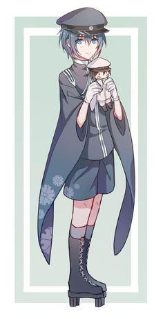 Kailen Sebonzakura Model Kaito Shion, Vocaloid Kaito, Cute Anime Boy, Anime Guys, Anime Chibi, Anime Art, Hakkenden, Profile Avatar, Mikuo