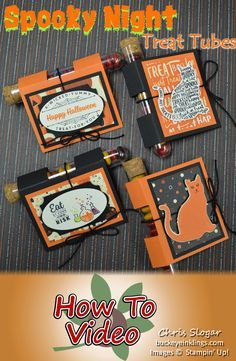 Wrap and decorate Treat Tubes for any occasion using this simple wrap. My Halloween version uses Stampin' Up!'s Spooky Night Suite