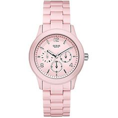 Guess-Womens-Pink-Polycarbonate-Bracelet-Watch