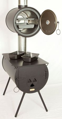 ortable Wood Stoves and Packages. Package Accessories fit inside of Stove for Storage and Transporting. Great for summer kitchens and emergencies. Also comes with optional oven. Very affordable! Camping Survival, Survival Skills, Camping Gear, Campsite, Materiel Camping, Rocket Stoves, Wood Burner, Summer Kitchen, Outdoor Cooking