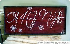 "Pottery Barn Inspired ""O Holy Night"" Christmas Sign"
