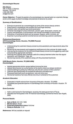 cosmetologist resume examples resume format download pdf