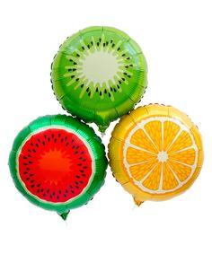 Mylar Fruit Balloon Set
