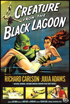 Creature from the Black Lagoon posters for sale online. Buy Creature from the Black Lagoon movie posters from Movie Poster Shop. We're your movie poster source for new releases and vintage movie posters. Old Movie Posters, Classic Movie Posters, Classic Horror Movies, Film Posters, Art Posters, Illustrations Posters, Cinema Posters, Rock Posters, Scary Movies