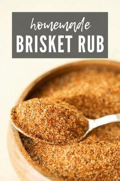 Homemade Spices, Homemade Seasonings, Homemade Smoker, Smoked Brisket Rub, Best Brisket Rub, Brisket Flat, Smoked Pork, Dry Rub For Brisket, Smoked Potatoes