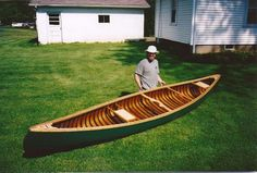 Newly restored 1957 Oldtown, 16' Guide model canvas canoe. Work by Jason A. Hammond.