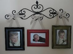decorative wrought iron to hang pictures from