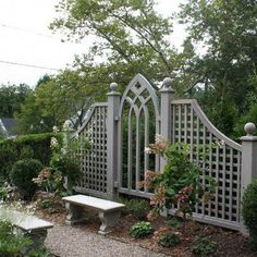 Looking for ideas to decorate your garden fence? Add some style or a little privacy with Garden Screening ideas. See more ideas about Garden fences, Garden privacy and Backyard privacy. Cheap Privacy Fence, Privacy Fence Designs, Garden Privacy, Backyard Privacy, Garden Arbor, Garden Trellis, Garden Gates, Backyard Landscaping, Landscaping Ideas