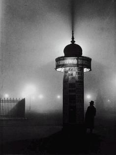 I really like photographs of architecture, and Brassai photographs Parisian architecture. This photograph is really stunning with the silhouette of the tower.