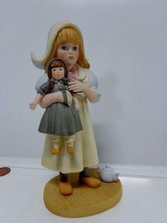 Jan Hagara Porcelain DEE DEE Ltd Ed Girl FIGURINE Dutch Holland Hat Cake Topper