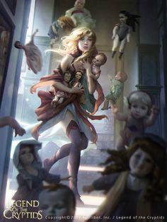 Artist: Jana Schirmer aka janaschi - Title: Unknown - Card: Unknown, Legend of the cryptids