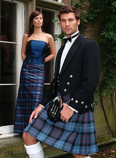 Why is the woman NOT looking at the man in a kilt? Every woman looks at a man in a kilt. Scottish Dress, Scottish Clothing, Scottish Man, Scottish Kilts, Scottish Fashion, Tartan Kilt, Tartan Dress, Tartan Wedding, Kilt Wedding