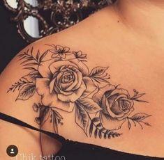 # tattoo # tattoo art - tattoo feminina - 41 Most Beautiful Shoulder Tattoos for Women - Arrow Tattoos, Rose Tattoos, Flower Tattoos, Body Art Tattoos, Sleeve Tattoos, Trendy Tattoos, Unique Tattoos, Beautiful Tattoos, Small Tattoos