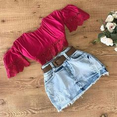 Most tips to put on a denim mini skirts will be determined by your individual form, though this simplistic chic outfit. Cute Fashion, Teen Fashion, Fashion Outfits, Womens Fashion, Skirt Outfits, Casual Outfits, Cute Outfits, Beautiful Outfits, Spring Outfits