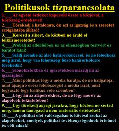 POLITIKUSOK Tízparancsolata