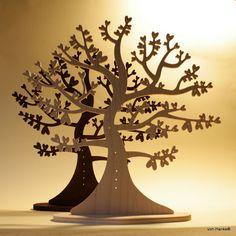 Stojánek na šperky - Strom srdčitý