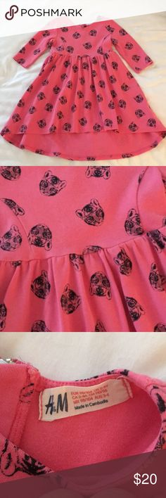 H&M Pink and Black Tiger Print Toddler Girl Dress Very good condition and oh so cute!!  Size is a 2-4T. H&M Dresses Casual
