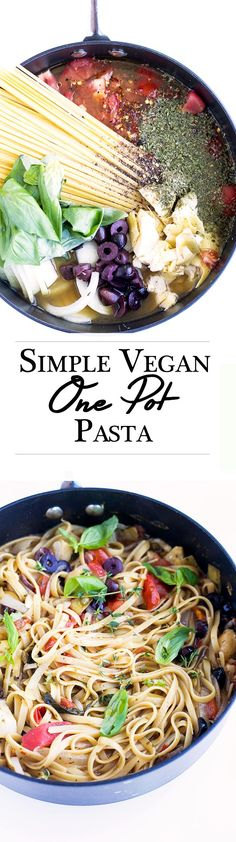 Delicious Vegan One Pot Pasta. Simple, minimal wash up, made in under 20 minutes.