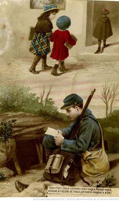 [Carte postale adressée au soldat Léon Moreau, évoquant la vie au front : carte postale]
