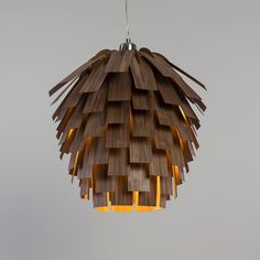 A Pine Cone Inspired Lamp By Tom Raffield