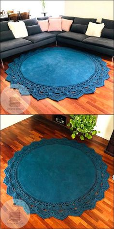 Beautiful Crochet Rug Free Crochet pattern – Rug making Crochet Mat, Crochet Rug Patterns, Crochet Carpet, Crochet Home, Carpet Diy, Rugs On Carpet, Crochet Handbags, Beautiful Crochet, Beautiful Beautiful