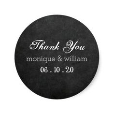 Chalkboard Flourish Rustic Wedding Thank You