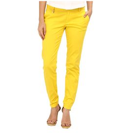 DSQUARED2 Medium Waist Super Slim Pant Yellow - 6pm.com
