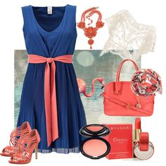 Royal Blue and Coral :)