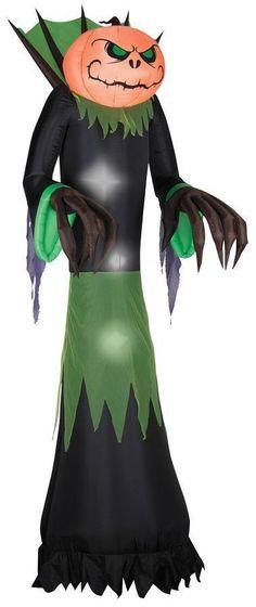 10 Foot Outside Yard Lawn Halloween Pumpkin Reaper Inflatable Haunted House Deco   eBay