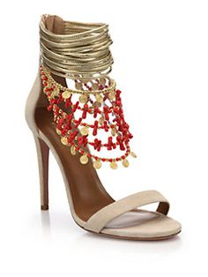 Aquazzura - Queen of the Nile Embellished Sandals